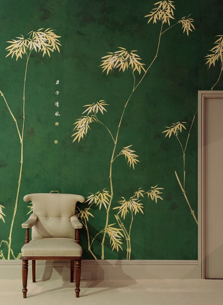 217 best murals flora fauna landscapes images on for Bamboo wallpaper for walls
