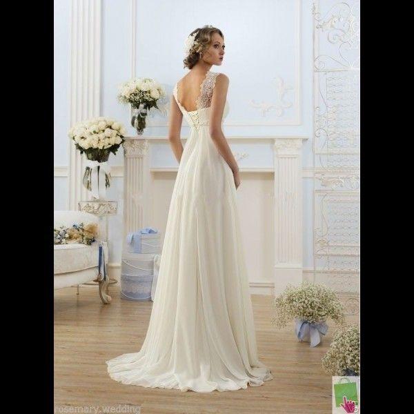 Robe de mariée fluide taille empire, inspiration Joséphine.