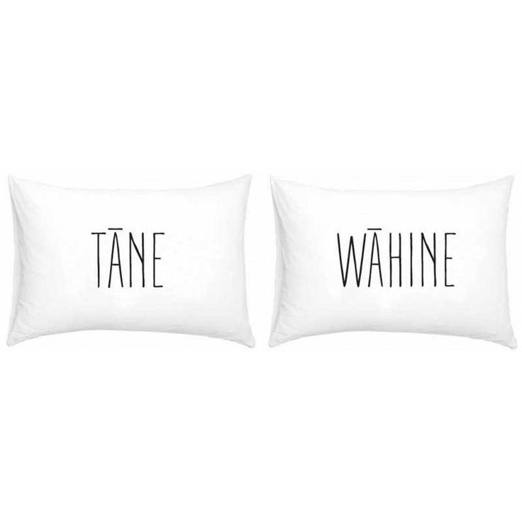 NZ Maori Tane Wahine Double Pillowcase Set