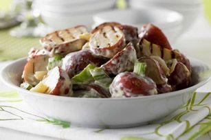 Salade de pommes de terre à l'ail grillé