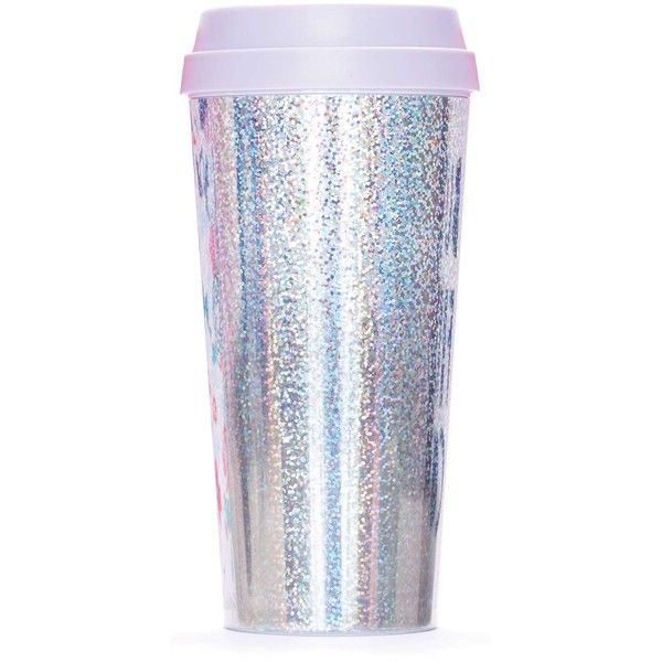 Miss Selfridge Holographic Thermal Mug found on Polyvore featuring home, kitchen & dining, drinkware, fillers, assorted and miss selfridge