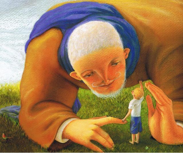 "Fabian Negrin illustration for ""The Selfish Giant"" by Oscar Wilde."