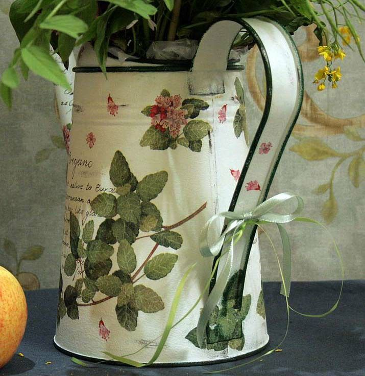 Oregano watering can