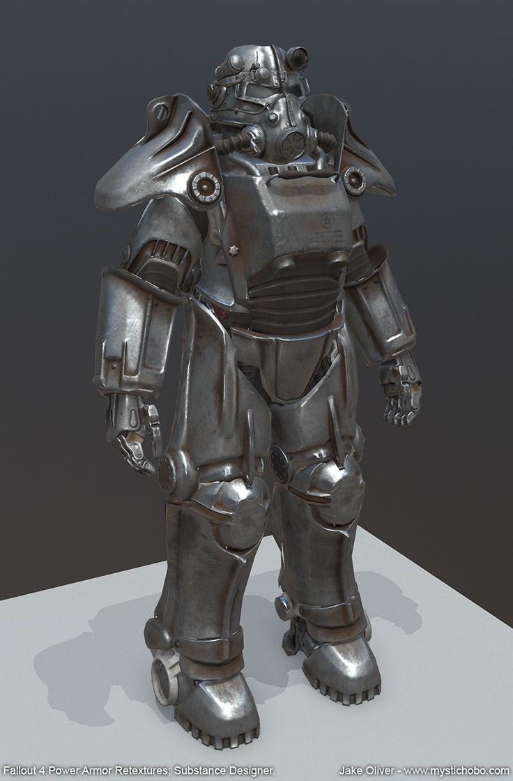 Fallout 4 Power Armor Retextures (Substance Designer), Jake Oliver on ArtStation at https://www.artstation.com/artwork/oxodL