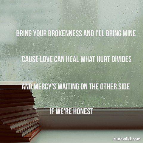 "-- #LyricArt for ""If We're Honest"" by Francesca Battistelli"