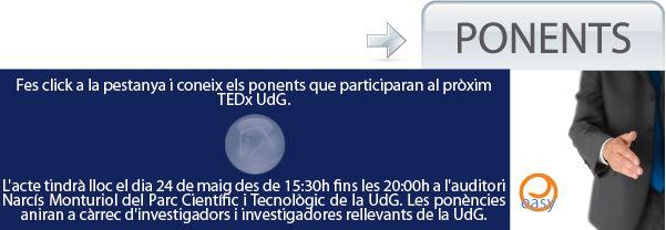 Assisting at TEDx UdG. Dr.Peplluís de la Rosa from Centre Easy being a speaker http://www.easyinnova.com/index.php/centre-easy/noticies/86-centre-easy-udg/651-el-2n-tedx-udg-a-girona
