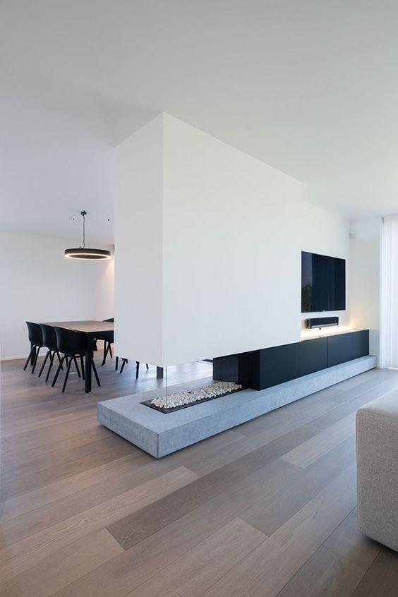 Schwarzweiss-Dekor-Inspirationen / Zeitgenössische und Luxusinnenarchitektur – Wohnzimmer