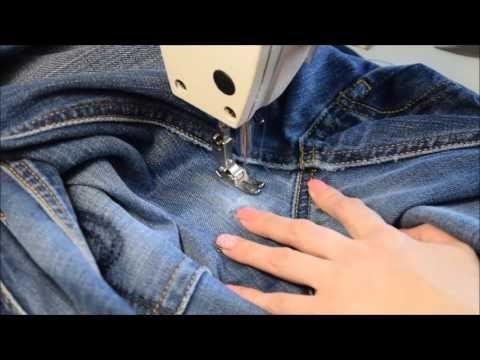 Штопка джинс - YouTube