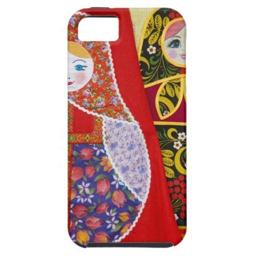 Het schilderen van Russische pop Matryoshka iPhone 5 Case by zazzle.nl