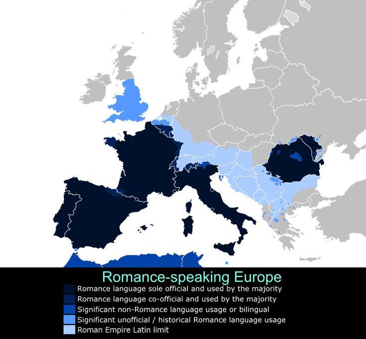 Romance Language speakers in Europe
