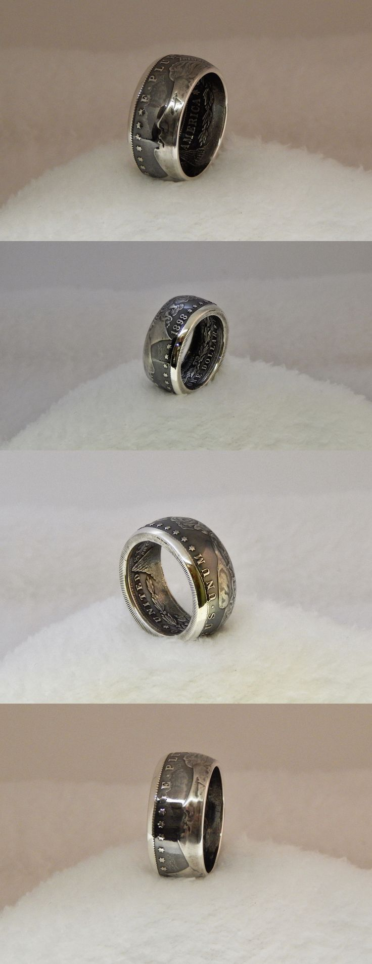 Rings 110666: Beautiful Custom Mens 1898 Morgan Silver Dollar Ring 90% Silver .Size 13 3 4 -> BUY IT NOW ONLY: $99 on eBay!