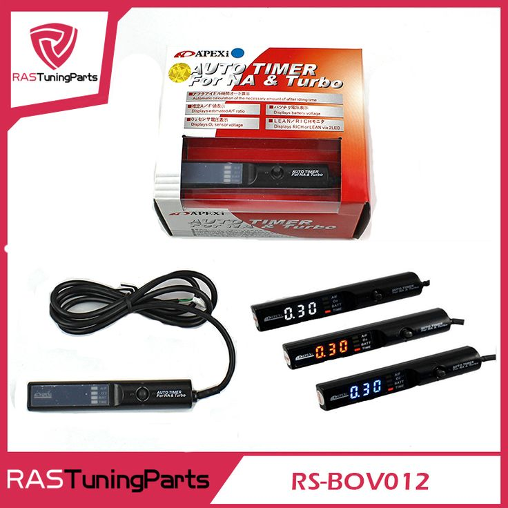 Universal APEXI Turbo Timer Kotak Warna Asli untuk NA & Turbo RS-BOV012 Kontrol Led Digital Tampilan Lampu Merah Putih Biru