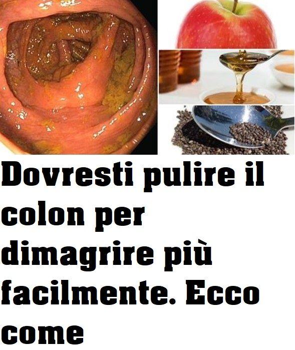 la pulizia del colon fa dimagrire dieta 1 giorno detox