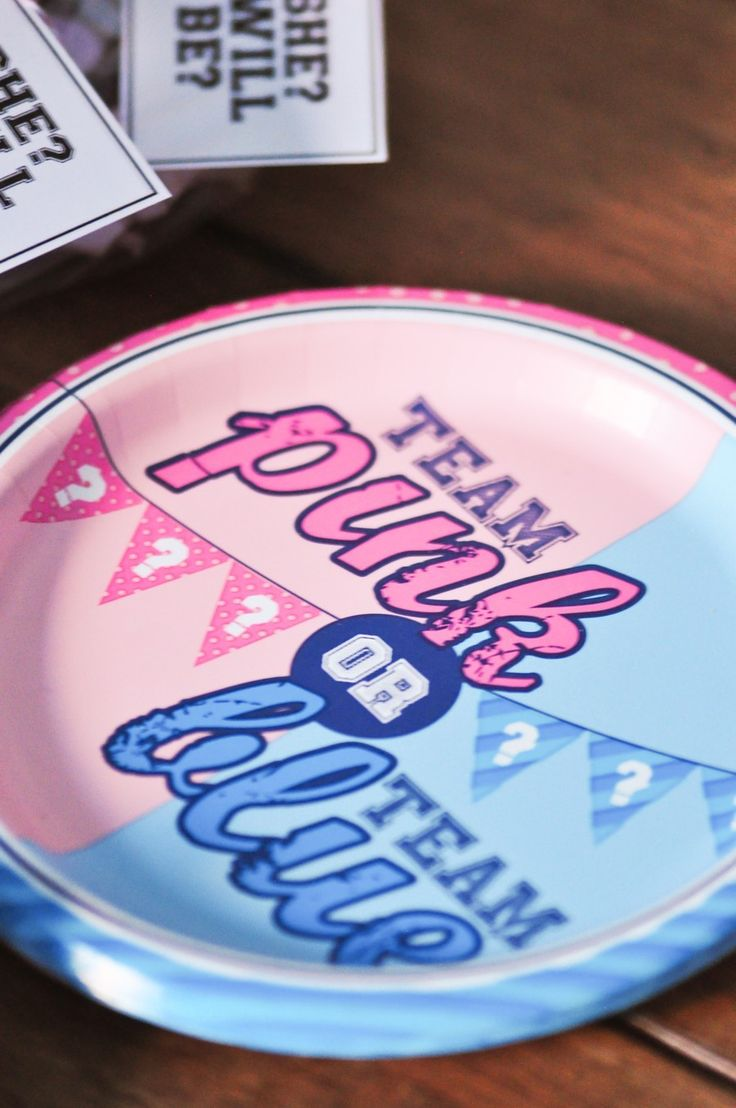 gender reveal team pink team blue baby shower party by kara's party ideas. college football university party ideas