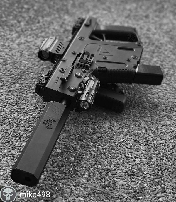 """tacticalsquad: """" 📷: @mike498 - Kriss Vector 9mm SBR W/ SilencerCo Osprey. """""""