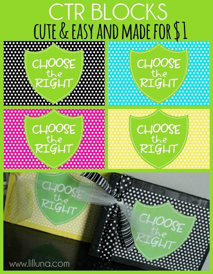 Simple and Cute CTR Blocks made for $1 { lilluna.com }