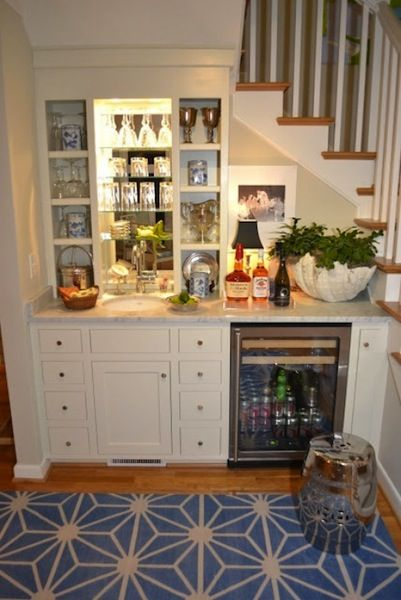 Bar under the stairs