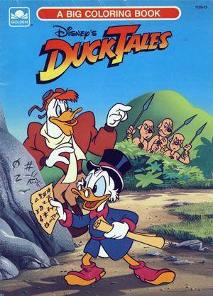walt disneys ducktales big coloring book 1990 golden books - Big Coloring Books