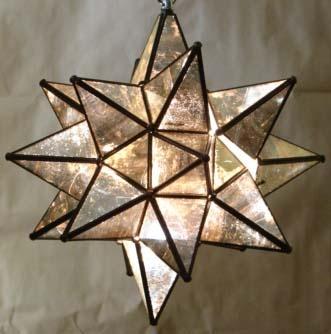 $175 Moravian Star Light: Moravian Stars Lights, Antiques Glasses, 175 Moravian, Trav'Lin Lights, Glasses Moravian, Stars Lamps, Golden Lights, Collection Glasses, Stars Pendants