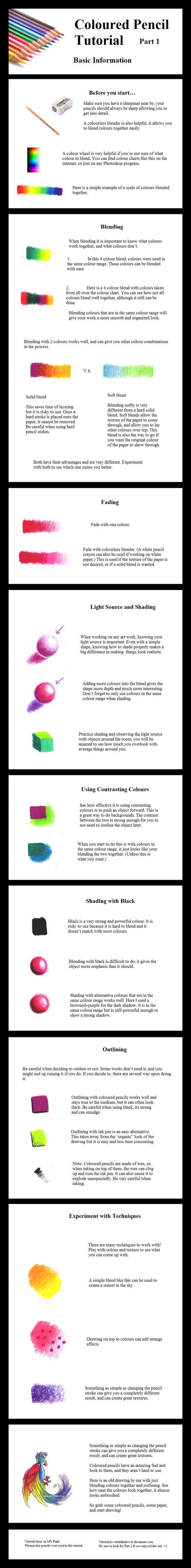 This is a nice colored pencil tutorial!