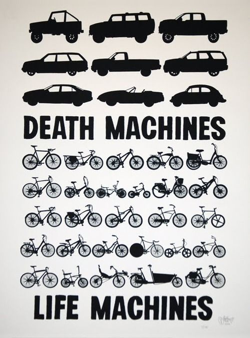Life and death machines #cycling