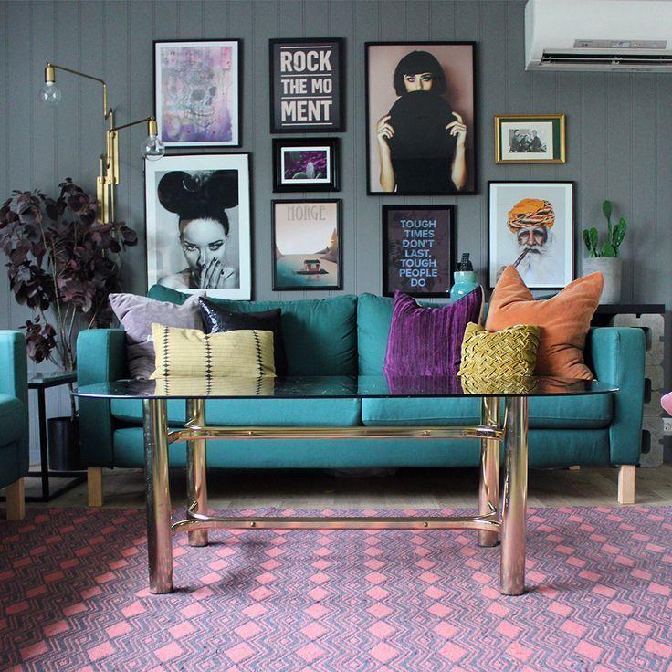 House Tour: Eine farbenfrohe, offene Wohnung in Norwegen – #Apartment #Colourful