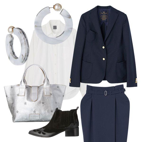 WEEKDAY STYLE : 定番黒ジャケット白シャツを脱コンサバに着こなすには