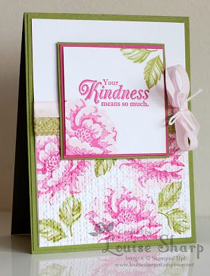 Stampin' Up Stippled Blossom card. This was my convention swap card for Brisbane 2013