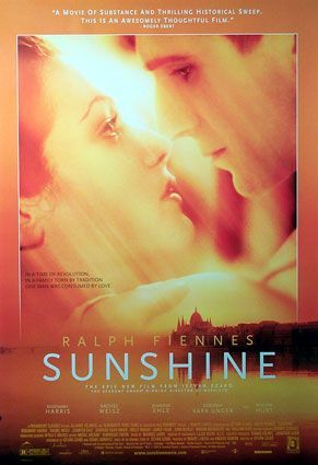 SUNSHINE [Canada-Austria 1999] The story of three generations of the Sonnenscheins, a Jewish-Hungarian family that began when Hungary was ruled by the Austro-Hungarian empire, changed their name to Sors in order to survive the years of Nazi occupation, and now faces the fallout of the postwar Communist legacy.