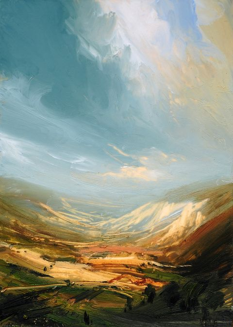 """Distant Valley""  James NaughtonJames Of Arci, Landscapes Art, Aerial Landscapes, Beautiful Painting, Distant Valley, Artists Unknown, Art Prints, Landscapes Painting, James Naughton"