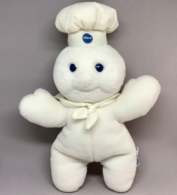 #PoppinFresh Plush Pillsbury #DoughBoy #Dakin 1990 Special Edition 25th Birthday  #Pillsbury