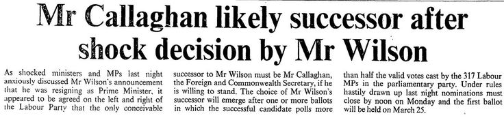 16th March 1972 - Harold Wilson resigns as Prime Minister