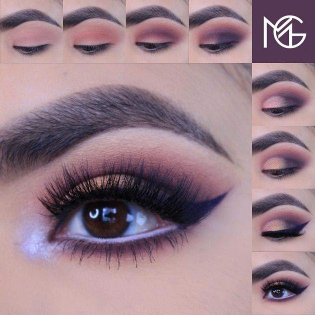 Smokey purple tones for a beautiful date night! #makeup #tutorial #womentriangle