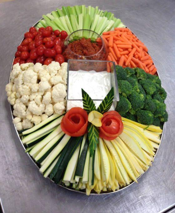 In plaats van salade, kan iedereen lekker zelf kiezen....