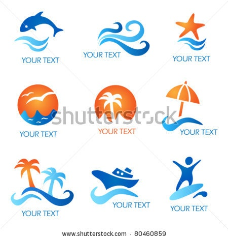 stock-vector-sea-and-beach-icons-80460859.jpg 450×470 pixels
