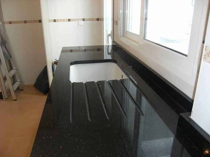 Las 25 mejores ideas sobre cocina de granito negro en - Encimera marmol precio ...