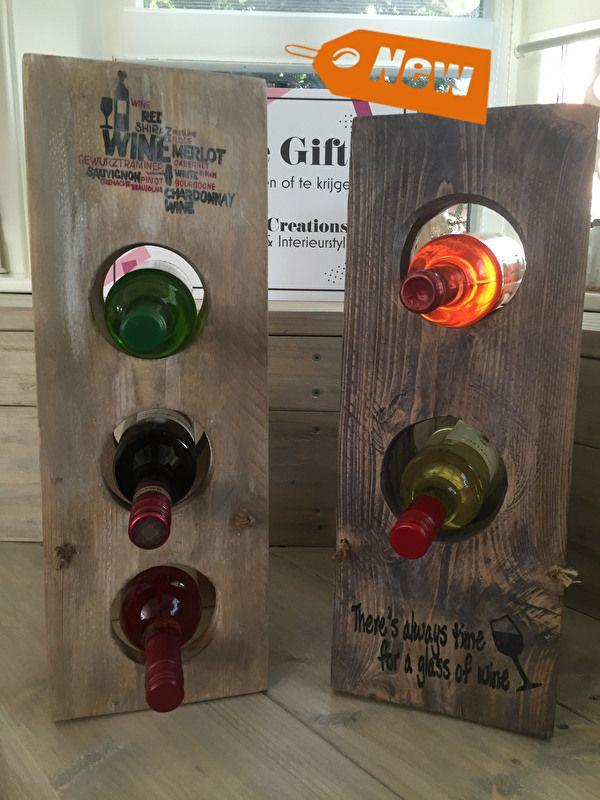 Flessenstandaard incl. 3 flessen wijn