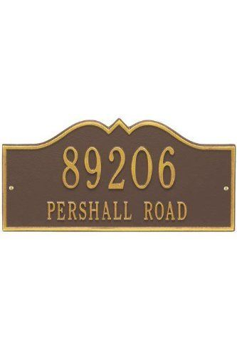 Hillsboro Two-Line Standard Wall Address Plaque - standard/2 line, Copper by Home Decorators Collection. $125.00. Hillsboro Two-Line Standard Wall Address Plaque - It's Your Own Little Corner Of The World - So Why Not Mark It With Pride? A House Sign Announces A Message Of Distinction. These Premium, Textured And Dimensional Address Plaques Are Designed With Large Letters And Numbers For Maximum Visibility. Choose From Our Exceptional Array Of Custom Address P...