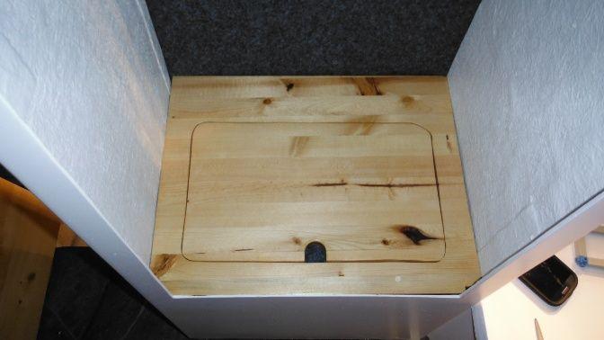 Bottom Shelf of the Closet with insert.
