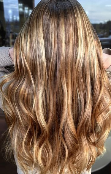Honey, caramel, gold, bronde. All blended. Color by Kristina Petrini.  Filed under: Hair Color, Hair Styles, Hair Stylists Tagged: balayage, beauty, bronde, hair, hairstyles, highlights, style, trends