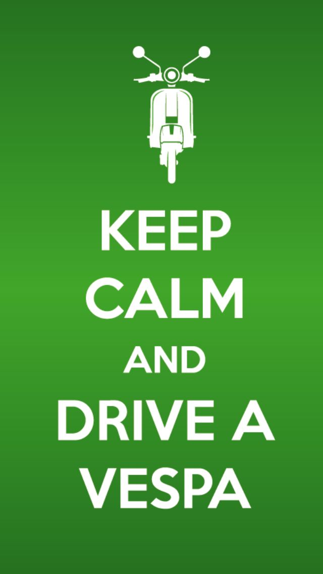 #Keepcalm and drive a #Vespa Vintage inspiration fashion decor 2013…
