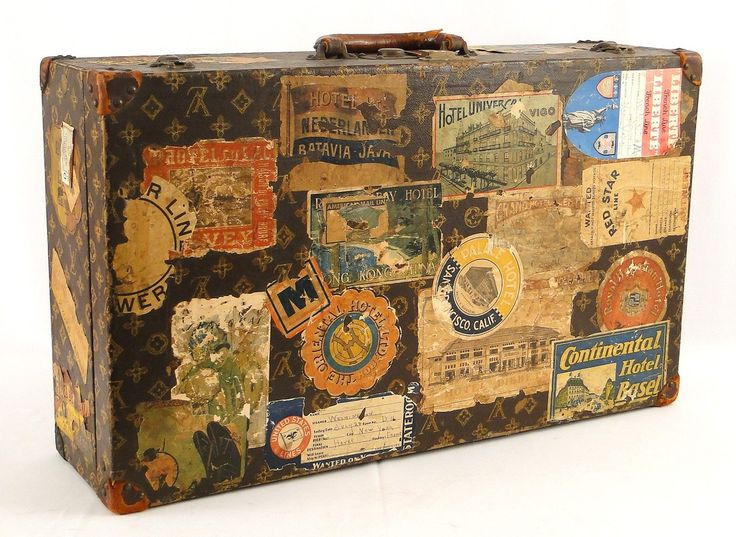 I'd absolutely die to own an original Louis Vuitton trunk! Too bad they cost around $10,000-$20,000! :(