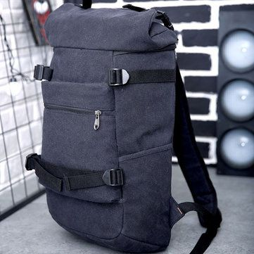Large Capacity Men Canvas Travel Hiking Backpack - US$33.83