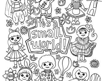Small World Coloring Pages Small World Coloring Pages Color