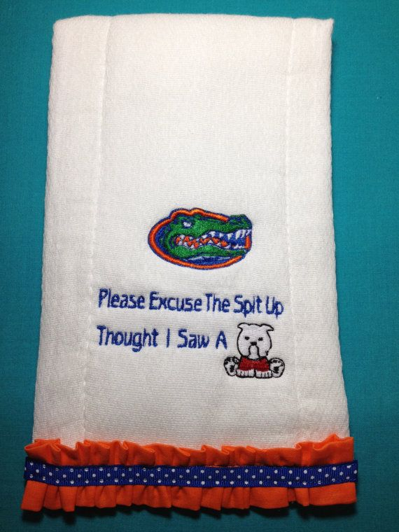 Florida Gator Burp Cloth Thought I Saw A Dawg Baby by Thatsafunny, $10.00