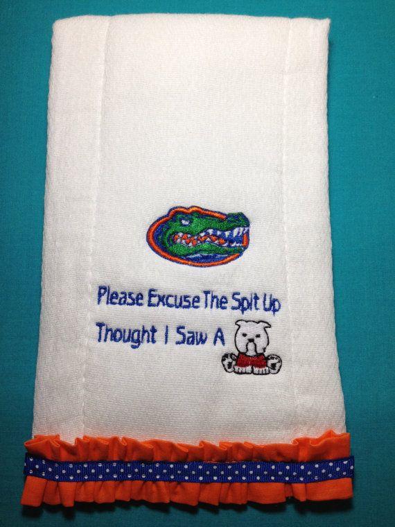 Florida Gator Burp Cloth Thought I Saw A Dawg Baby by Thatsafunny, $10.00