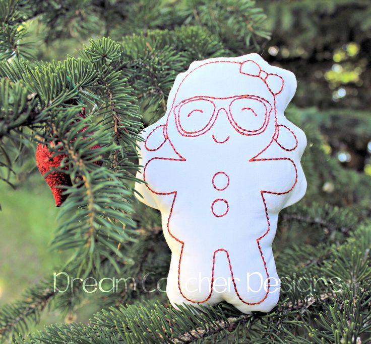 Geeky Gingerbread Girl Doodle It 5×7 (1)
