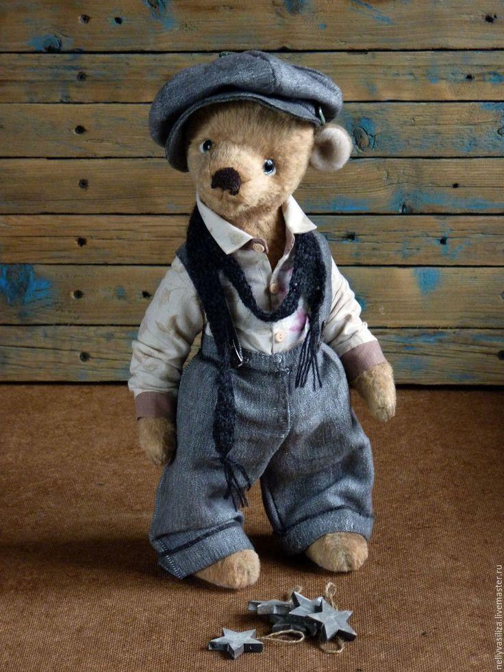 Teddy Bear Oliver | Купить Мишка Оливер Твистер маленький сорванец - бежевый, плюшевый, мишка ручной работы