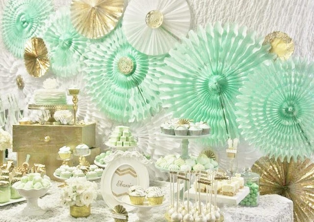 Mint and Gold Party