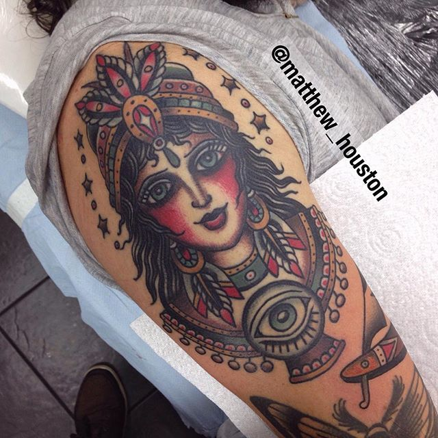 Fortune Teller tattoo by @matthew_houston @sevendoorstattoo